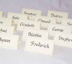 Table place cards for Sainsburys.